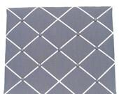 25% OFF Valentine Day Dark Gray Memory Board French Memo Board, Fabric Ribbon Memo Bulletin Board, Fabric Pin Board, Fabric Photo Board, Bed