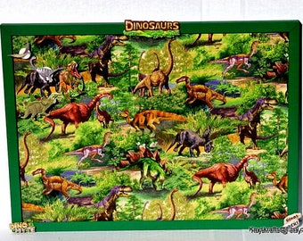 Dinosaur Cork Bulletin Board, Green Frame Tack Board, Cork Pin Board, Kids Bedroom Decor, Gift For Kids, Dinosaur Decor, Birthday Gift