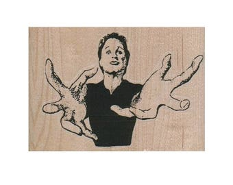 Rubber stamp Hands Lady woman girl person   stamps scrapbooking supplies number 4800