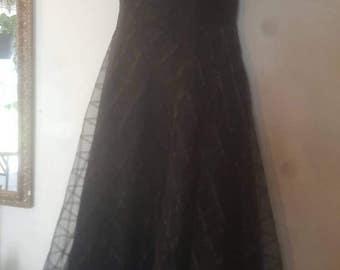 Vintage Black Evening Dress sz 14 by im.butterflycreations