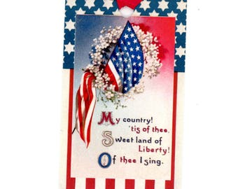 Fourth of July Tags , Independence Day , Vintage Patriotic Image, Red white and Blue , American Flag , Stars and Stripes , Bluebird Lane