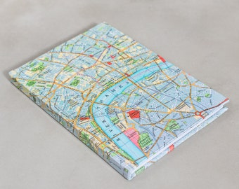 London map personalised notebook - Custom notebook - london notebook  -  Map sketchbook - Travel journal - sketchbook -map gift - map gift