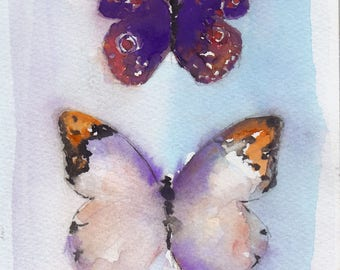 amethyst butterfly print