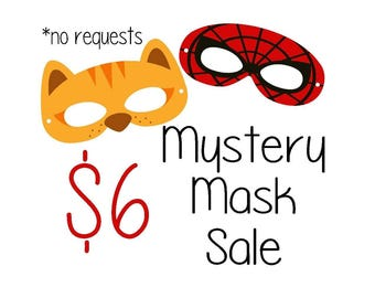 The Masked Menagerie Mystery Mask Sale!!!