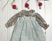 """Linen Jumper with the Augusta blouse - For dolls 18"""" - 20"""" tall"""