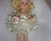 Vogue -Ginny -Doll - Collectible - White -Silver -Labeled -Vintage -Perfect!