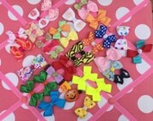 Inventory Clearance Sale-35 Assorted Hair Bows,Alligator Clips,Baby Hair Bows,Toddler Hair Bows,Free Shipping w/purchase of 25.00 or more!