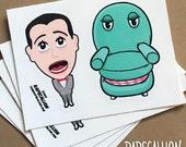 Pee Wee Herman Inspired Retro Playhouse Stickers
