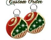 Custom Order for Crystal Earrings