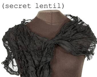 Sculptural Black Möbius Cowl Collar (I guess it's an infinity scarf too?) handmade in silk. Plus it's black, did I mention that?
