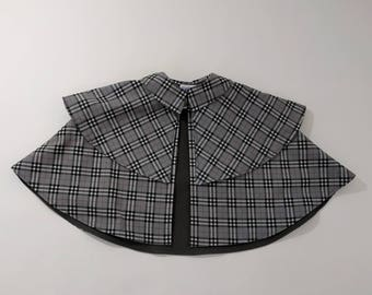 Sherlock Holmes Cotton Plaid Detective Cape for Girls or Boys - Sizes Newborn to 9/10 - Inverness Cape Costume for Dress Up, Pretend Play