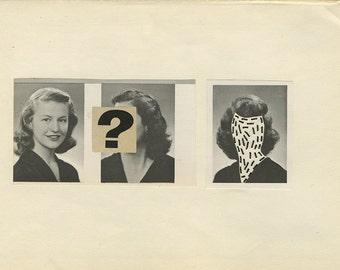 Forgotten.   Original mixed media collage by Vivienne Strauss.