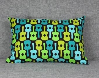 Guitar Pillowcase - fits 13 x 18 Travel or Toddler Pillow