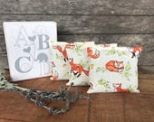 Lavender Sachet - Woodland Nursery Decor - Fox Nursery - Herbal Sachet - Woodland Baby Accessory - Baby Shower Gift - New Mom Gift - Fox