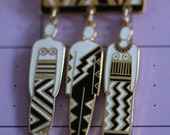VINTAGE Laurel Burch TRIBAL SPIRIT pin / brooch