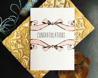 Congratulations Baby Girl Greeting Card #566