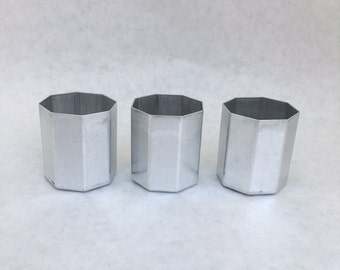 Votive Candle Molds 3 Octagon NEW Seamless Aluminum Candles
