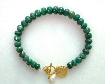 Luxe Large Emerald and 14kg Focal Bracelet...