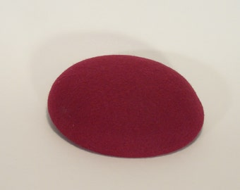 Handmade Wool/Rayon Felt Button Millinery Base