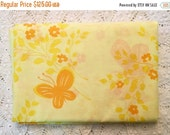 HOLIDAY SALE - New Vintage Duvet Cover - Yellow Butterflies - New Full Queen - Unused - Yellow Comforter Cover - Bright Cheerful Butterflies