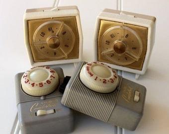 BIG SALE - Vintage Blanket Controls - Retro Home Decor - 1950s - 1960s - Gray Gold