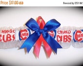 ON SALE Chicago Cubs Wedding Garter   Handmade  Toss   Bridal rore1
