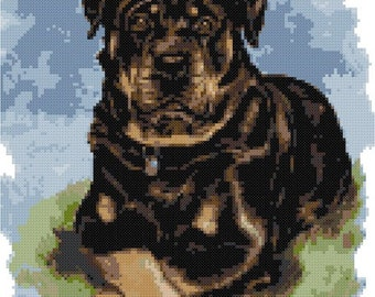 Rottweiler No1 counted cross stitch kit