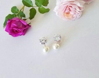 Bridal Earrings Wedding Earrings Pearl Drop Earrings Pearl Earrings Bridesmaid Earrings Cocktail Earrings,