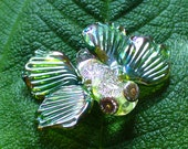 SRA Lampwork Glass Beads Handmade Catalinaglass  Fantasy Moth