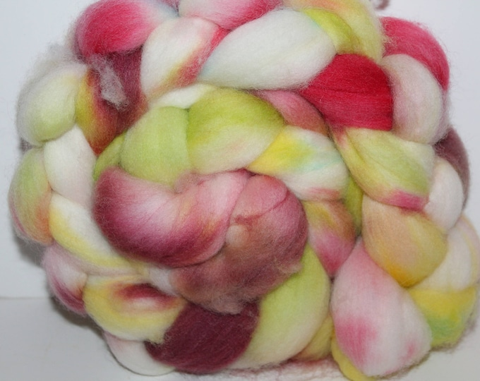 Kettle Dyed Falkland Wool Top.  Soft and easy to spin. 4oz  Braid. Spin. Felt. Roving. F138