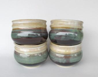 Soup Bowls set of Four - Stackable - Pistachio Glaze