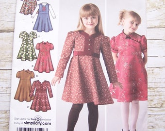 Simplicity 3588 girls sewing pattern sizes 3-4-5-6-7-8  six style variations