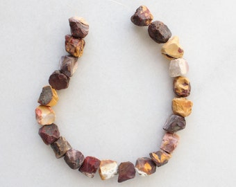 "Natural Mookaite Rough Nugget Beads - 16"" strand"