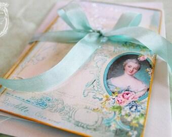 Letters of Passionnante, Madame de Pompadour Card Set or Invitations Set