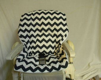 Chicco Polly High Chair Cover In Deep Navy Chevron