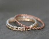 VALENTINES DAY SALE Thin Round Textured Ring