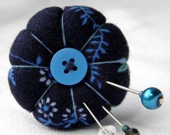 Blue Vines Pincushion Ring