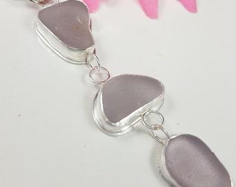 Sea Glass Necklace Sea Glass Jewelry Sea Glass Pendant Lavender Purple Sea Glass Necklace Sea Glass Jewelry - N-461