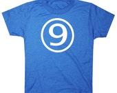 Kids CIRCLE Ninth Birthday T-shirt - Royal Blue