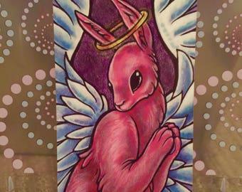 "Angel Bunny - 6x4"" Matte Art Print"