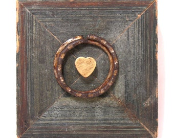 Your Heart is Safe with Me - Original Mixed Media Assemblage - Architectural Salvage Wood Collage - One of a Kind - Heart Art - Wall Art