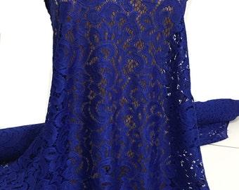 "Stretch Royal lace 58/60 "" wide 1 yard..  . formal wear, bridal, mother of bride, flower girl"