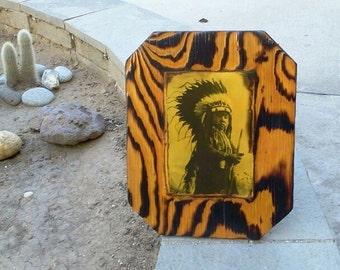 Cheyenne Boy -  Native American - Wooden Plaque