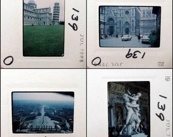 37 Vintage 35mm Slides - Rome - Vatican - Florence - 1970s Travel - Photo Slide Set - Leaning Tower of Pisa - Sistine Chapel - Italy