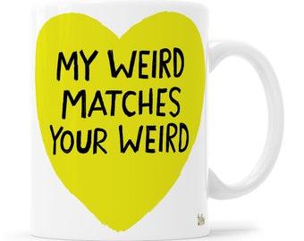 Teen Valentine, Anti Valentine, BFF Gift, Teenage Girl Valentine, Goth Girl Mug, Punk Girl Mug, Black Heart Mug, Weirdo Mug, Punk Rock