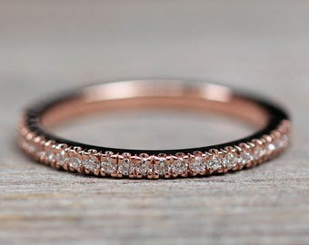 "Diamond Wedding Band - Half Eternity ""Beverly"" Band by Laurie Sarah - LS2073"