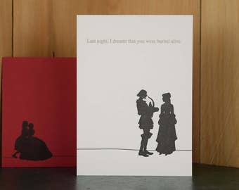 Buried Alive - letterpress love card