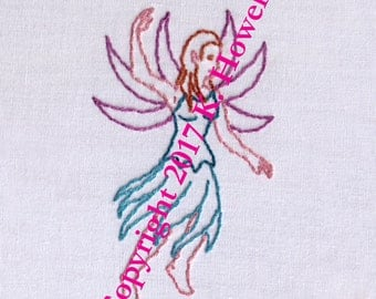 Fairy Hand Embroidery Pattern, Fairies, Fae, Faerie, Pixie, Small, Magical, Fantasy, Flying, PDF