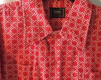 Men's Mod Shirt Vintage 60s Size M