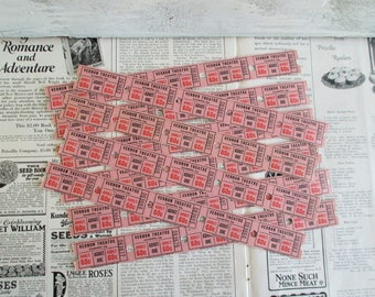 50 Vintage Theater Tickets - Vernon Theatre; Leesville, La.